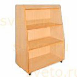 Шкаф-стеллаж для игрушек и пособий широкий